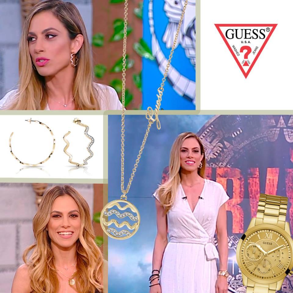 Η Ντορέττα Παπαδημητρίου Με Κοσμήματα & Ρολόι GUESS