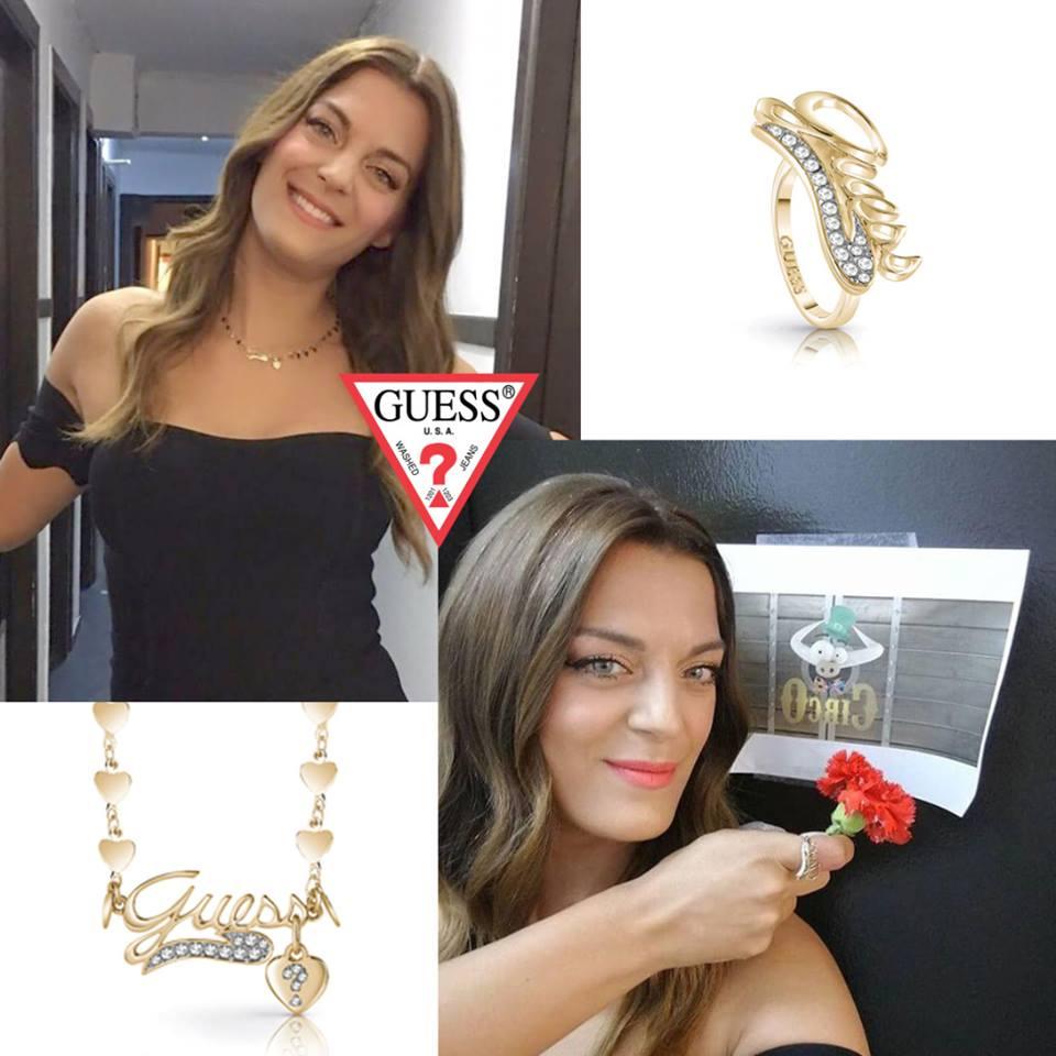 Η Χριστίνα Βραχάλη Με Εντυπωσιακά Κοσμήματα GUESS