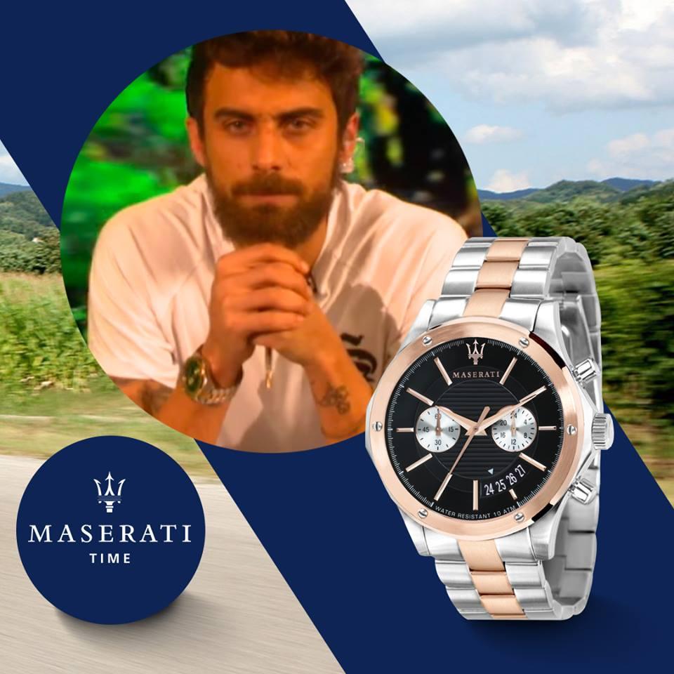 Ο Μάριος Πρίαμος Με Μεταλλικό Ρολόι Maserati