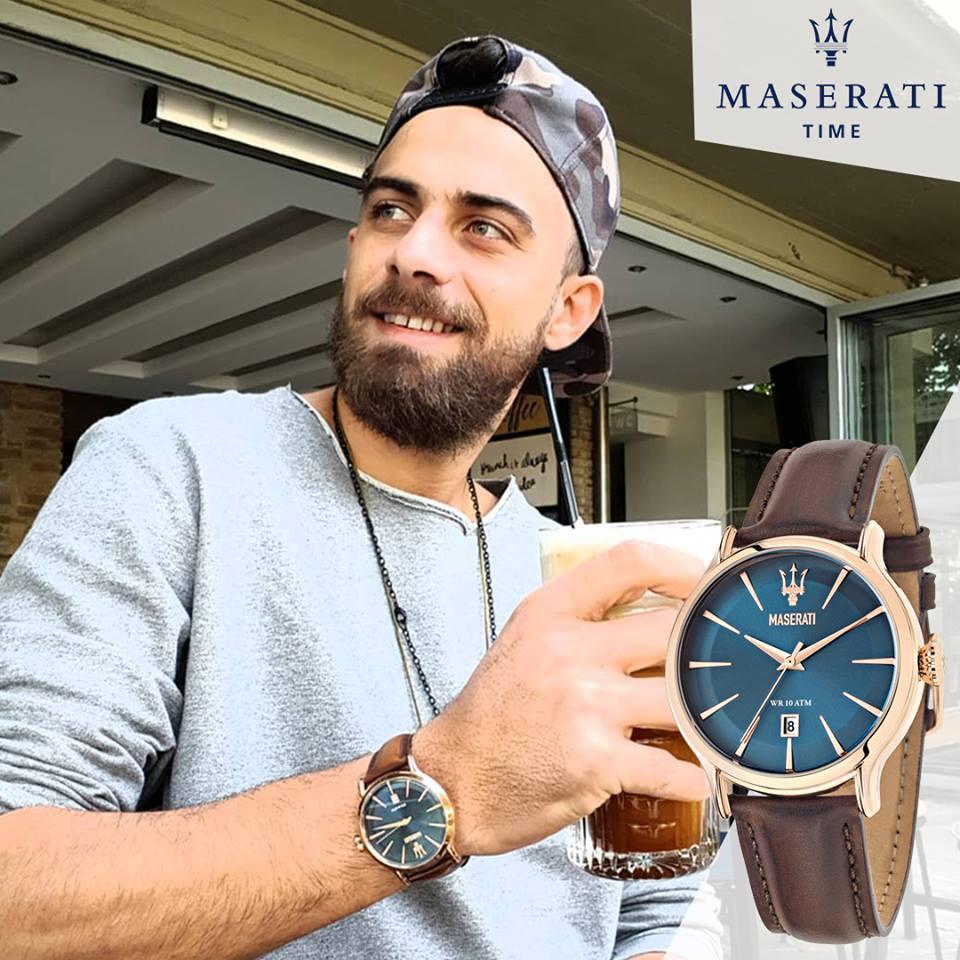 Ο Μάριος Πρίαμος Με Νέο Ρολόι Maserati
