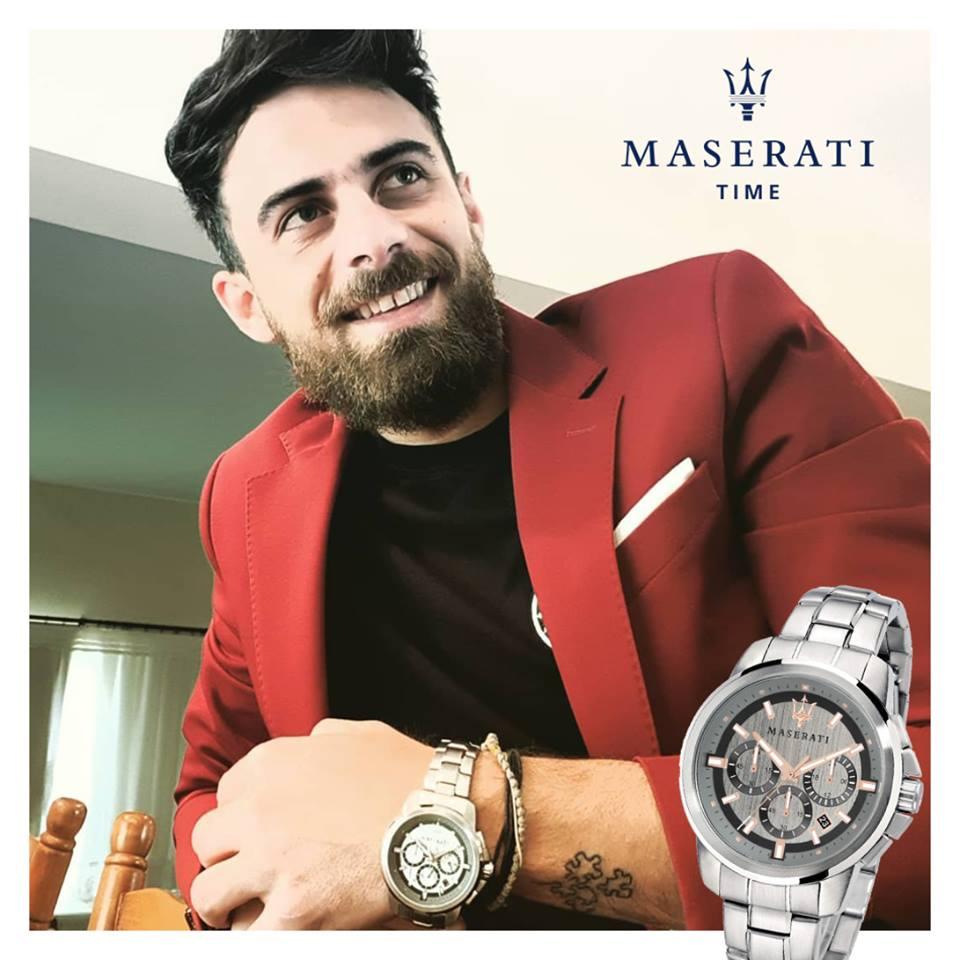 Ο Μάριος Πρίαμος Με Το Νέο Του Ρολόι Maserati