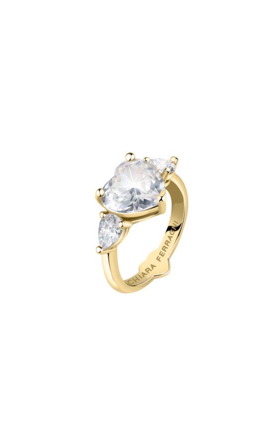 CHIARA FERRAGNI J19AUV32018 Χρυσό Δαχτυλίδι Με Καρδιά