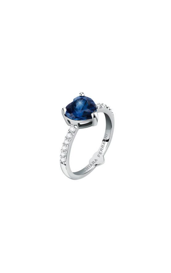 CHIARA FERRAGNI J19AUV34014 Ασημένιο Δαχτυλίδι Με Μπλε Καρδιά