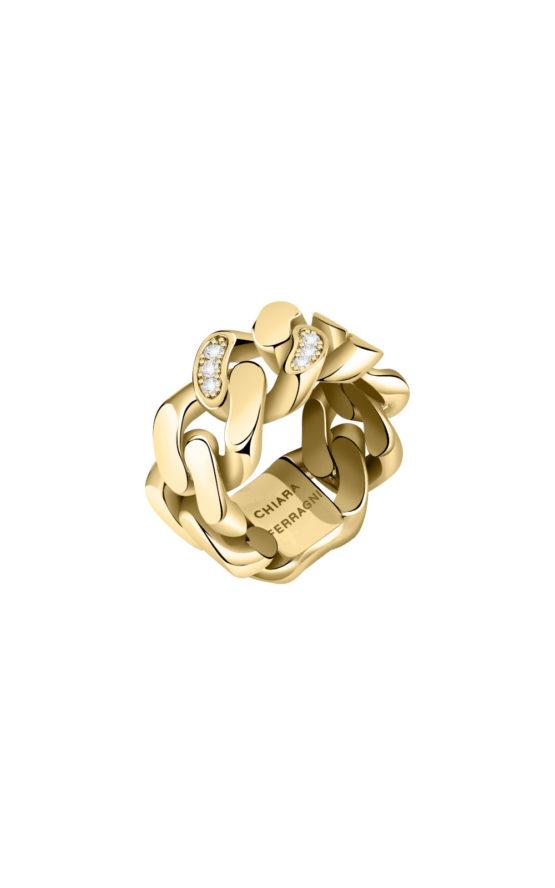 CHIARA FERRAGNI J19AUW05016 Χρυσό Δαχτυλίδι Αλυσίδα