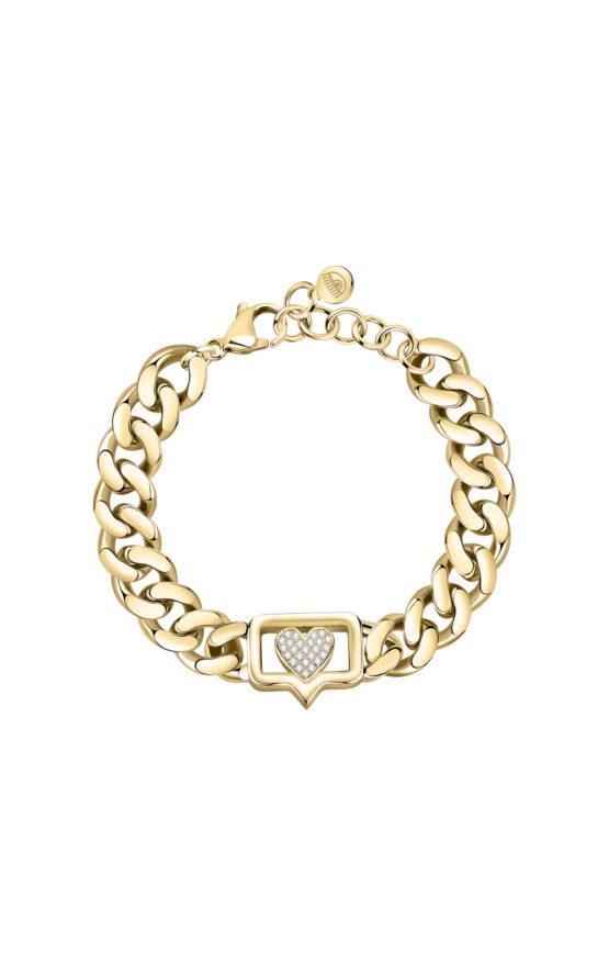 CHIARA FERRAGNI J19AUW10 Χρυσό Βραχιόλι Αλυσίδα Με Καρδιά