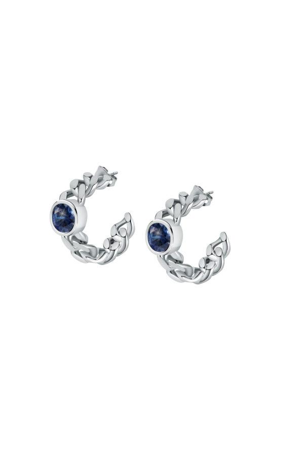 CHIARA FERRAGNI J19AUW24 Ασημένια Σκουλαρίκια Με Μπλε Πέτρα