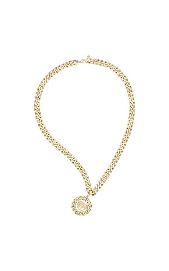 CHIARA FERRAGNI J19AUW36 Χρυσό Κολιέ Με Λογότυπο