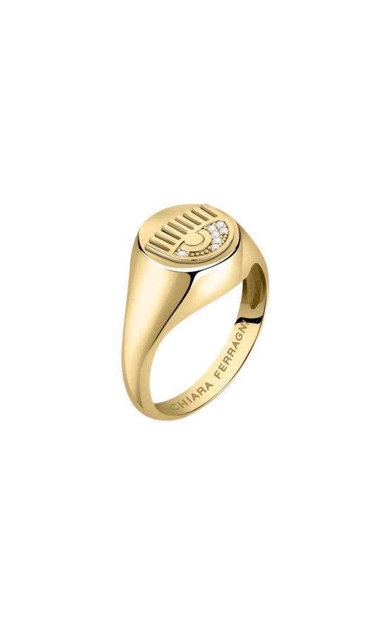CHIARA FERRAGNI J19AUW44014 Χρυσό Δαχτυλίδι Με Λογότυπο