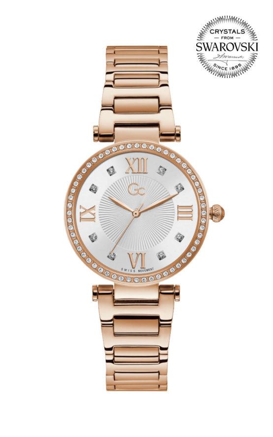 GC LadyCrystal Y64002L1MF Γυναικείο Ρολόι Quartz Ακριβείας