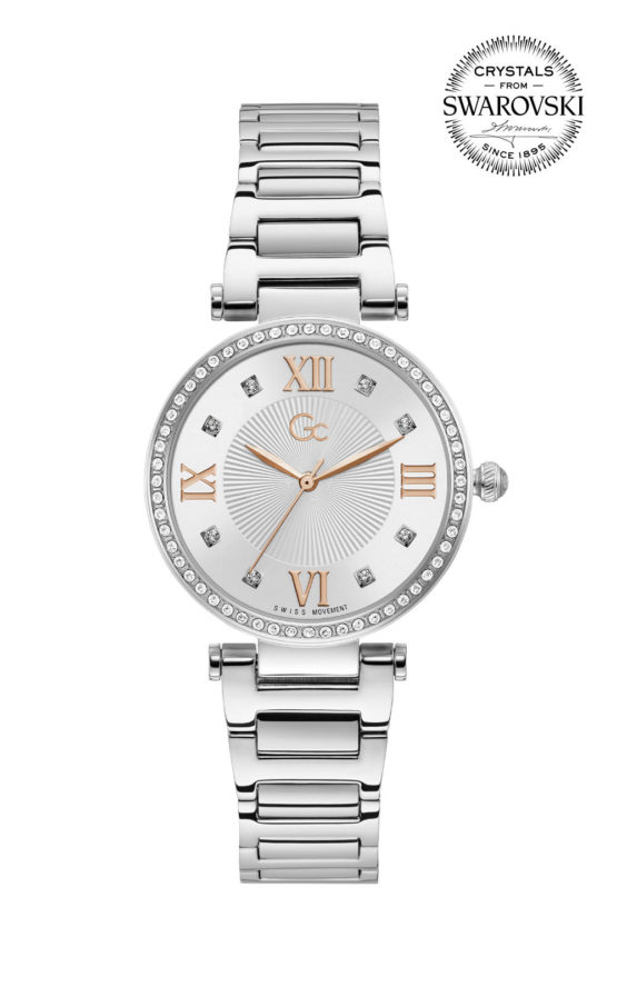 GC LadyCrystal Y64004L1MF Γυναικείο Ρολόι Quartz Ακριβείας
