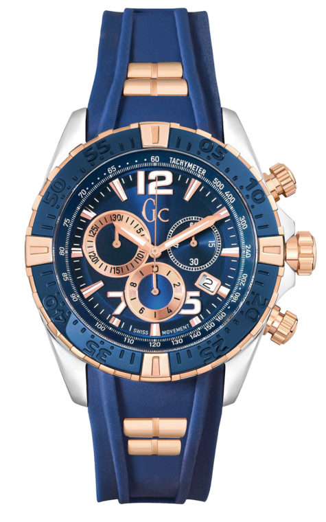 GC Y02009G7 Ανδρικό Ρολόι Quartz Χρονογράφος Ακριβείας