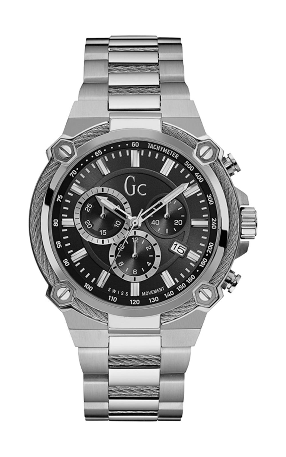 GC Y24003G2 Ανδρικό Ρολόι Quartz Χρονογράφος Ακριβείας