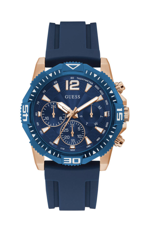 GUESS COMMANDER GW0211G4 Ανδρικό Ρολόι Quartz Χρονογράφος Ακριβείας