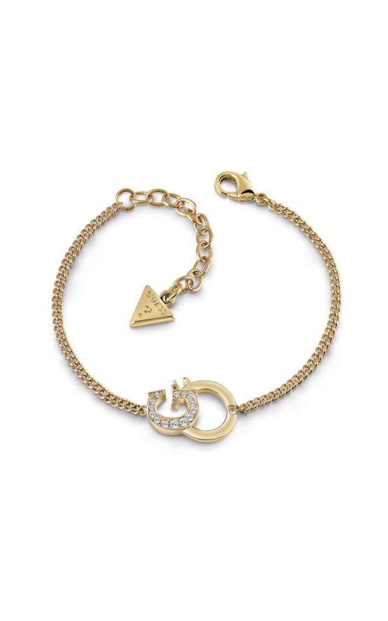 GUESS FAUX UBB28098-L Χρυσό Βραχιόλι Με Λογότυπο