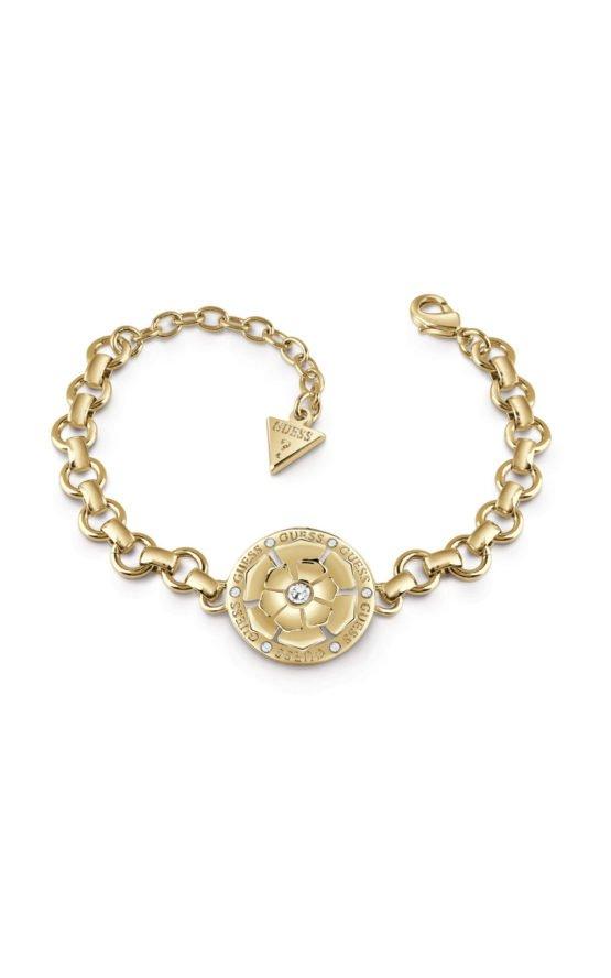 GUESS FAUX UBB28108-L Χρυσό Βραχιόλι Με Στρογγυλό Σχέδιο