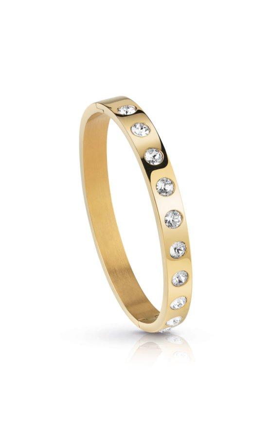 GUESS FAUX UBB28121-L Χρυσό Βραχιόλι Με Πέτρες