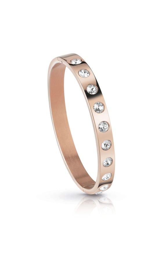 GUESS FAUX UBB28122-L Ροζ Χρυσό Βραχιόλι Με Πέτρες