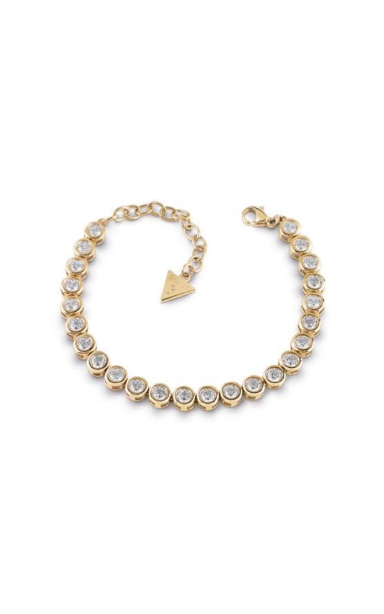 GUESS FAUX UBB28127 Χρυσό Βραχιόλι Με Πέτρες