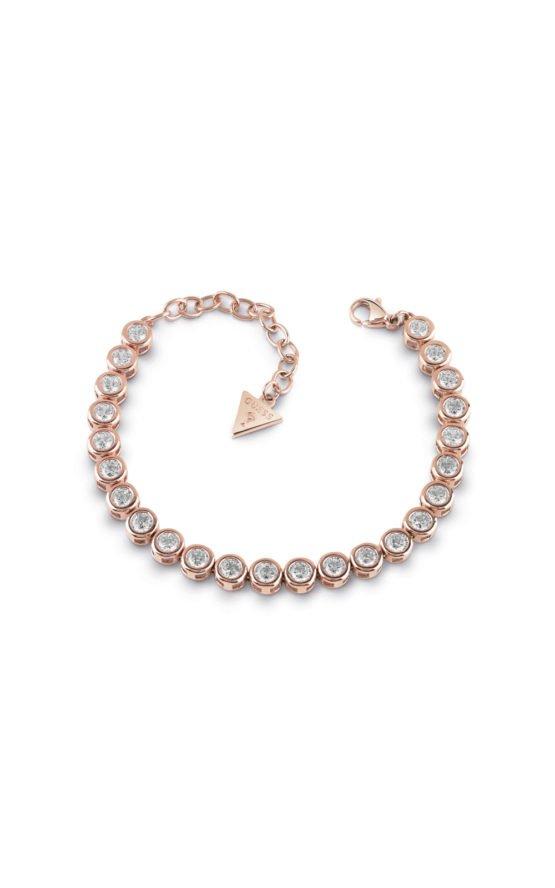 GUESS FAUX UBB28128 Ροζ Χρυσό Βραχιόλι Με Πέτρες