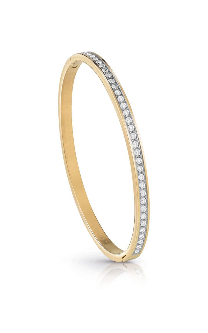 GUESS FAUX UBB28134-L Χρυσό Βραχιόλι Με Πέτρες