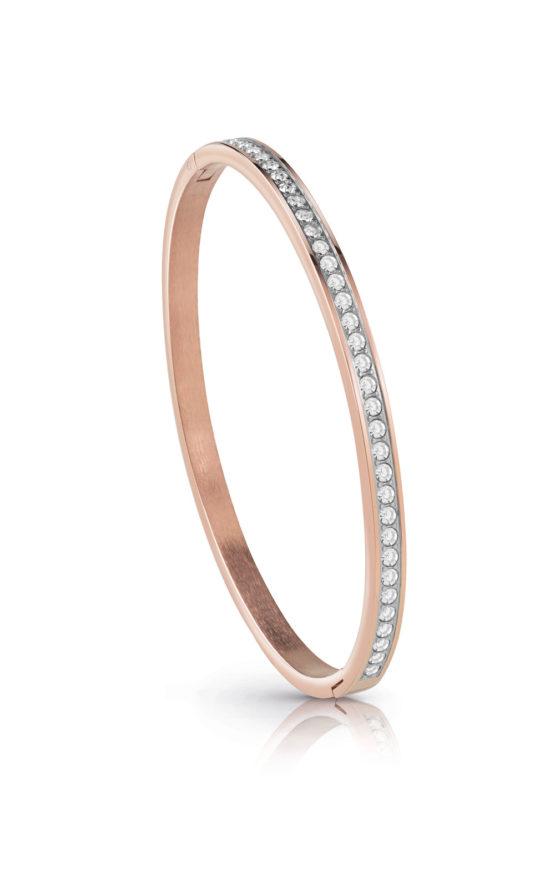 GUESS FAUX UBB28135-L Ροζ Χρυσό Βραχιόλι Με Πέτρες