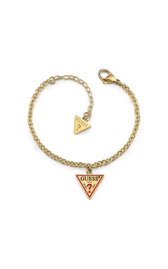 GUESS FAUX UBB29062-S Χρυσό Βραχιόλι Με Λογότυπο