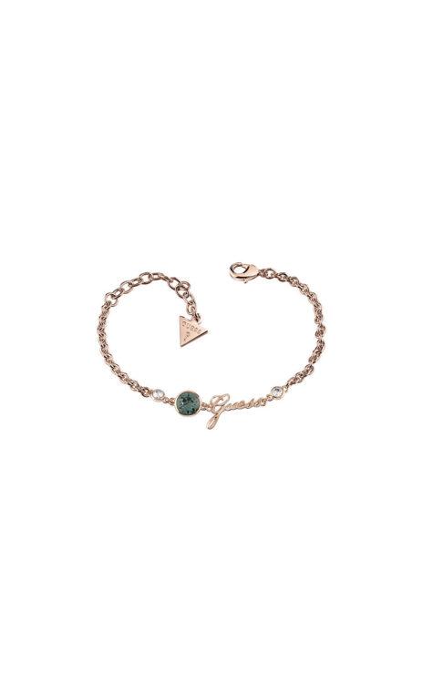 GUESS FAUX UBB83028-L Ροζ Χρυσό Βραχιόλι Με Λογότυπο