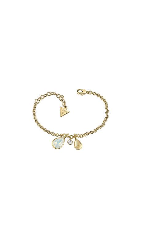 GUESS FAUX UBB83040-L Χρυσό Βραχιόλι Με Πέτρες