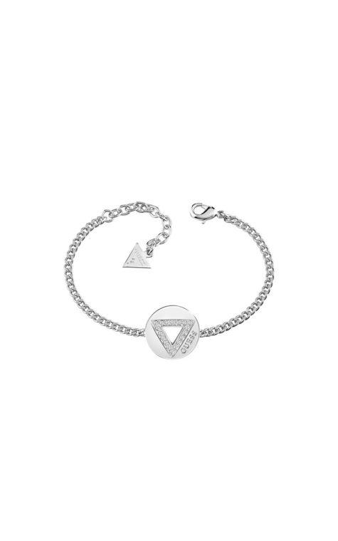GUESS FAUX UBB83057-L Ασημένιο Βραχιόλι Με Τρίγωνο