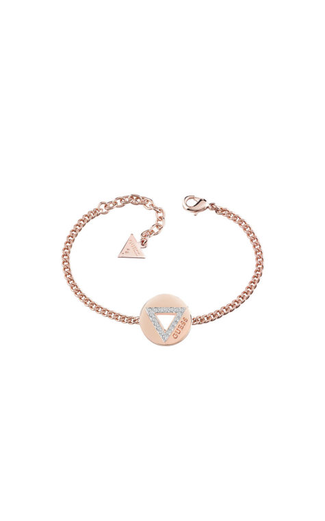 GUESS FAUX UBB83059-L Ροζ Χρυσό Βραχιόλι Με Τρίγωνο