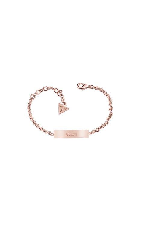 GUESS FAUX UBB83081-L Ροζ Χρυσό Βραχιόλι Ταυτότητα