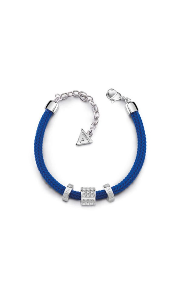 GUESS FAUX UBB84095-L Μπλε Βραχιόλι Με Χάντρα
