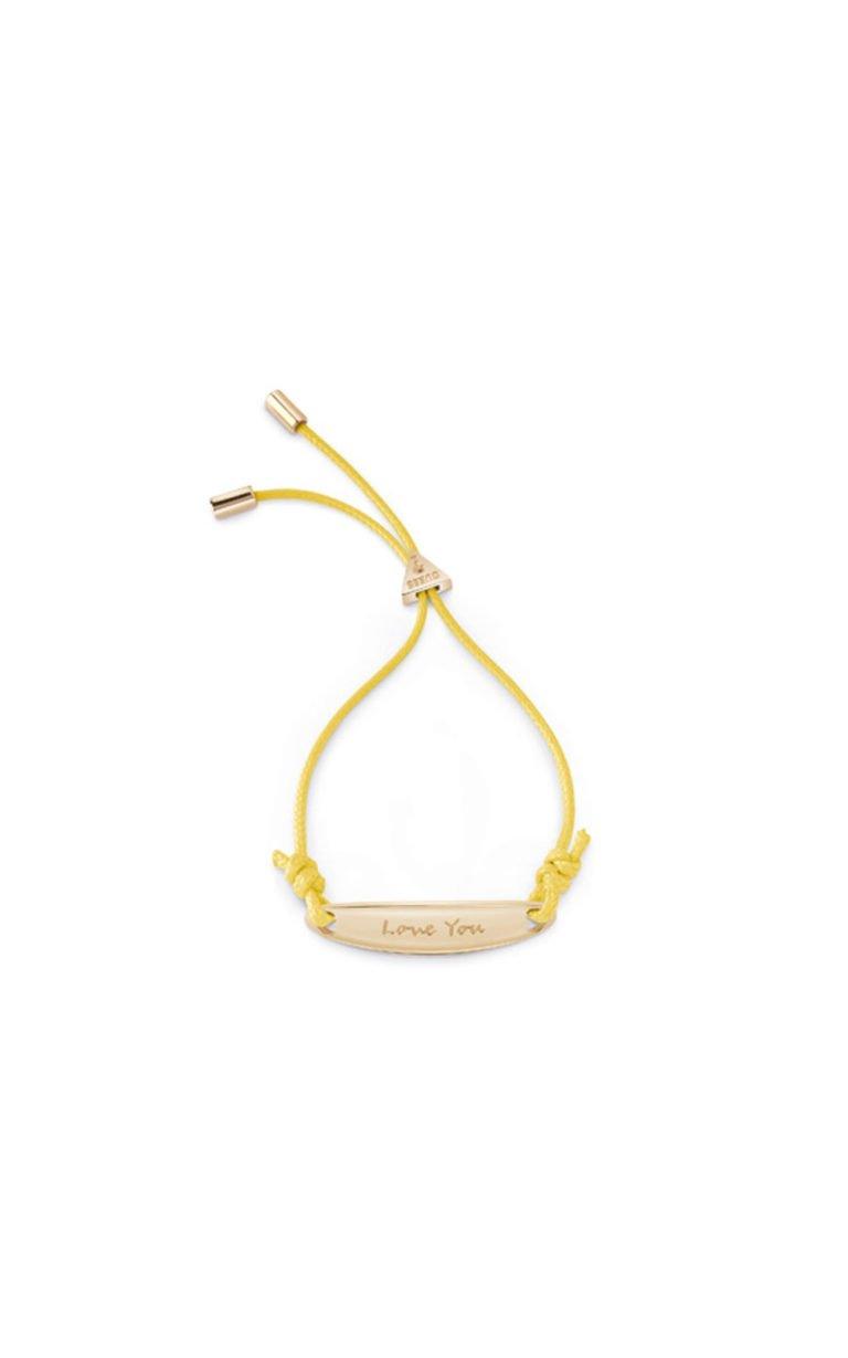 GUESS FAUX UBB85037-L Χρυσό Βραχιόλι Με Κίτρινο Κορδόνι