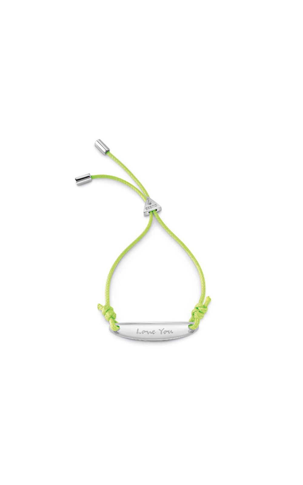 GUESS FAUX UBB85039-L Ασημένιο Βραχιόλι Με Πράσινο Κορδόνι