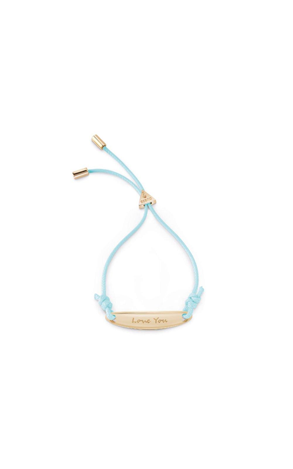 GUESS FAUX UBB85040-L Χρυσό Βραχιόλι Με Γαλάζιο Κορδόνι