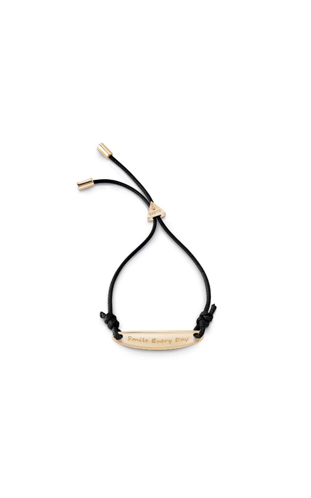 607a969d1c4 GUESS STEEL UBB85043-L Χρυσό Βραχιόλι Με Μαύρο Κορδόνι