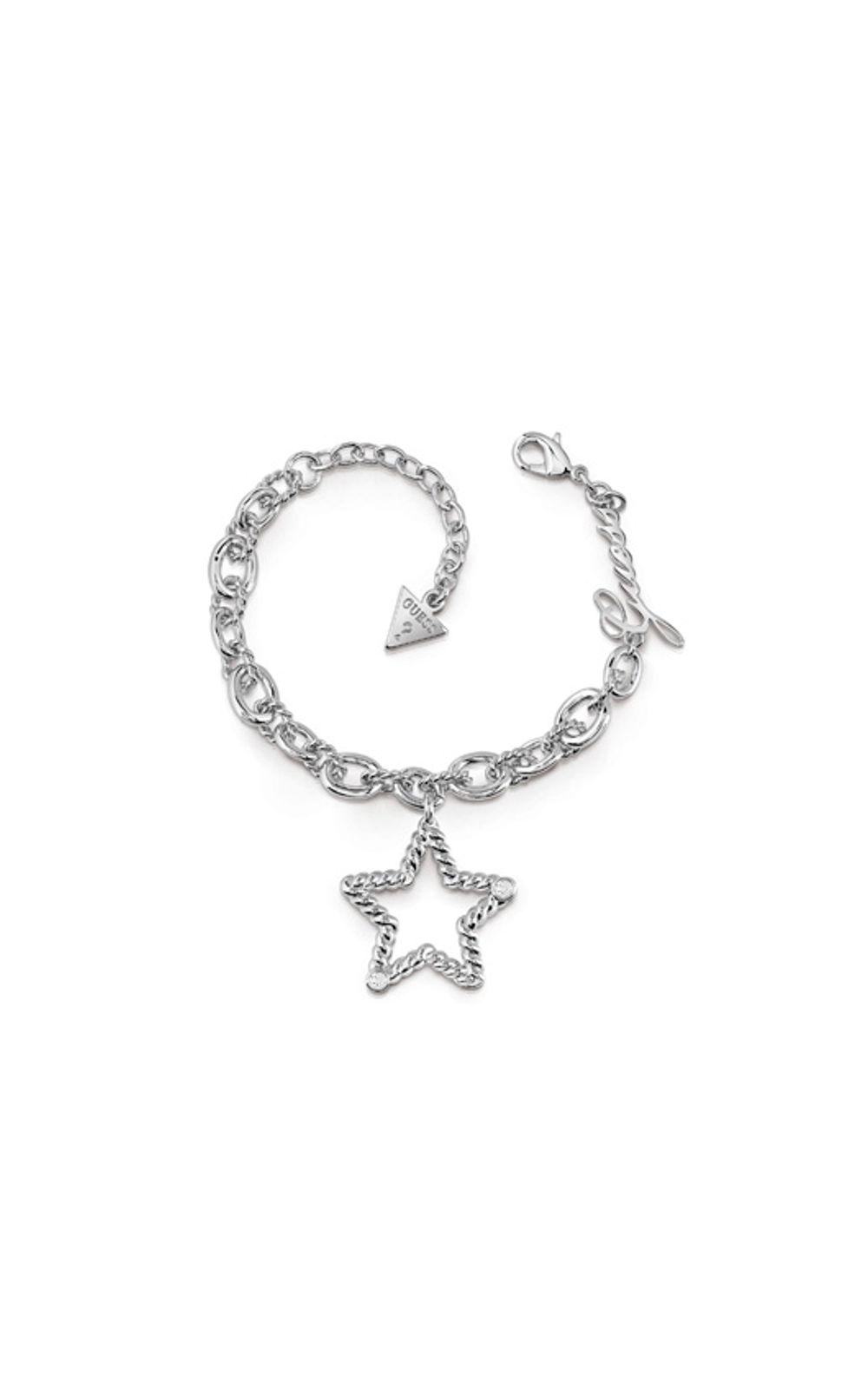 GUESS FAUX UBB85100-L Ασημένιο Βραχιόλι Με Αστέρι