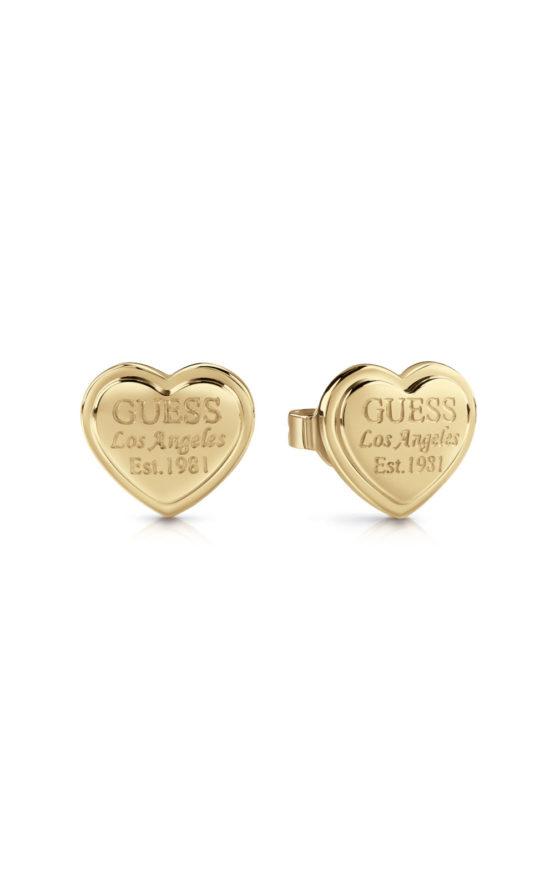 GUESS FAUX UBE28009 Χρυσά Σκουλαρίκια Καρδιές