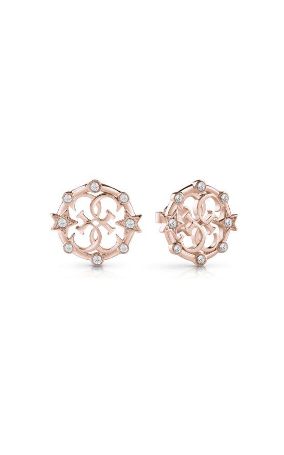 GUESS FAUX UBE28016 Ροζ Χρυσά Σκουλαρίκια Με Σχέδιο