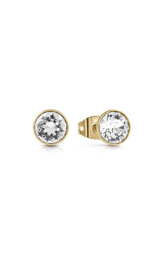 GUESS FAUX UBE28044 Χρυσά Σκουλαρίκια Με Πέτρα