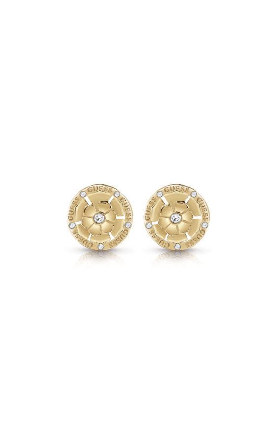 GUESS FAUX UBE28054 Χρυσά Σκουλαρίκια Με Σχέδιο