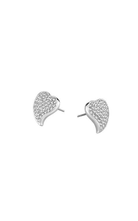 GUESS FAUX UBE71529 Ασημένια Σκουλαρίκια Καρδιά
