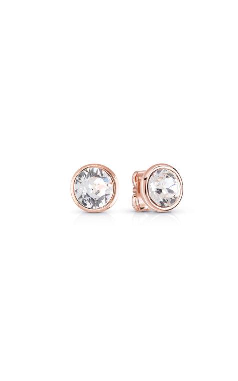 GUESS FAUX UBE83060 Ροζ Χρυσά Σκουλαρίκια Με Πέτρα