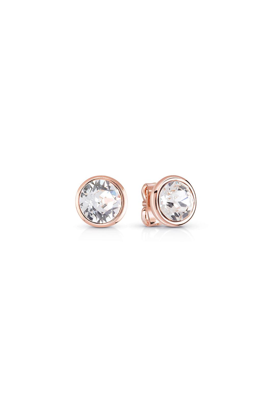 GUESS FAUX UBE83060 Ροζ Χρυσά Σκουλαρίκια Με Πέτρα b936a59f441