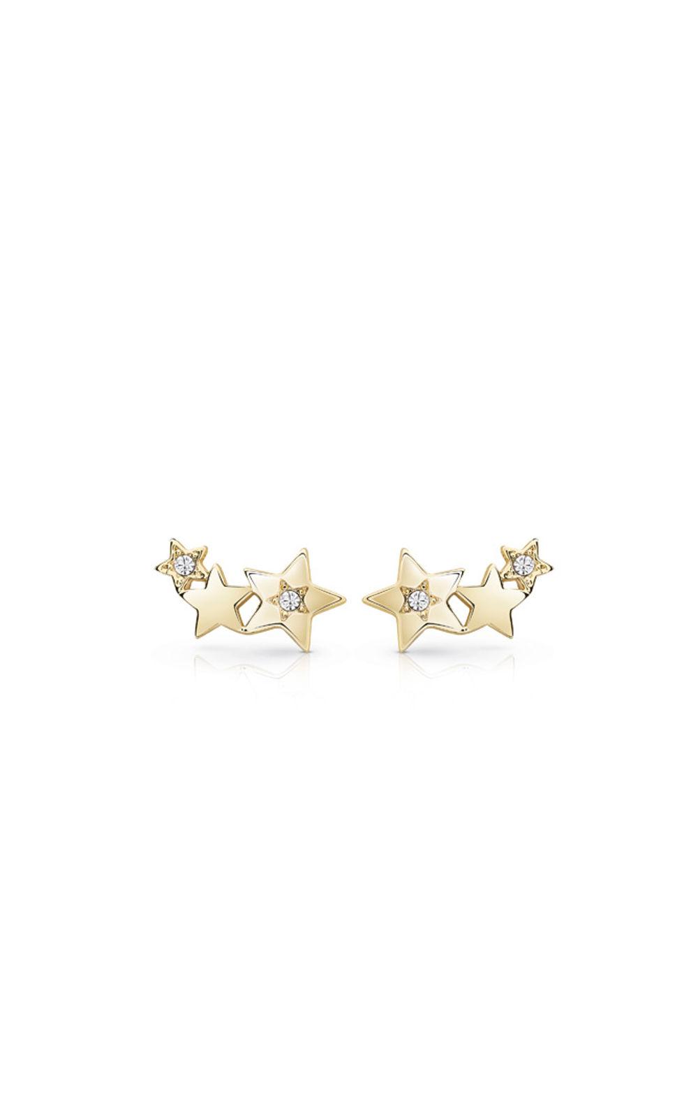 GUESS FAUX UBE84014 Χρυσά Σκουλαρίκια Αστέρια