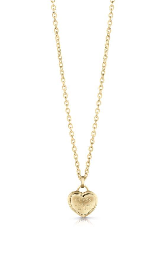 GUESS FAUX UBN28012 Χρυσό Κολιέ Με Καρδιά