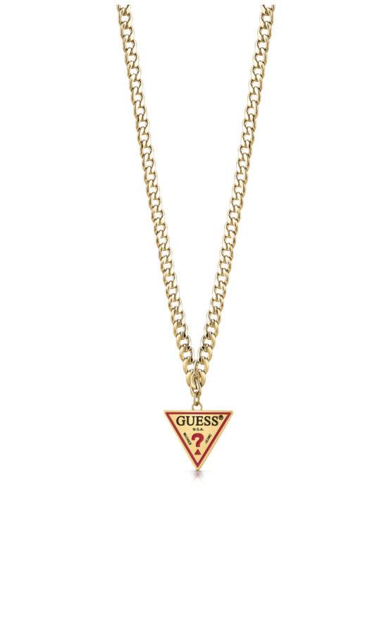 GUESS FAUX UBN29059 Χρυσό Κολιέ Με Λογότυπο