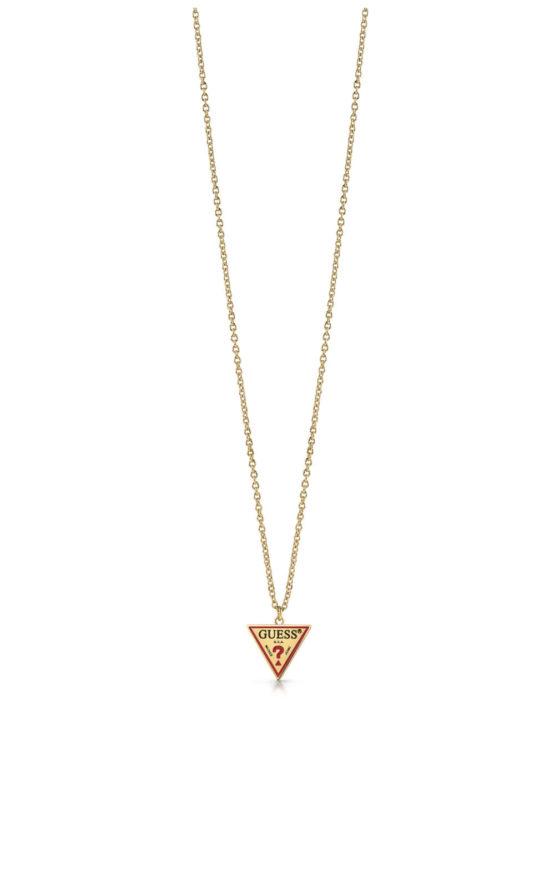 GUESS FAUX UBN29061 Χρυσό Κολιέ Με Λογότυπο
