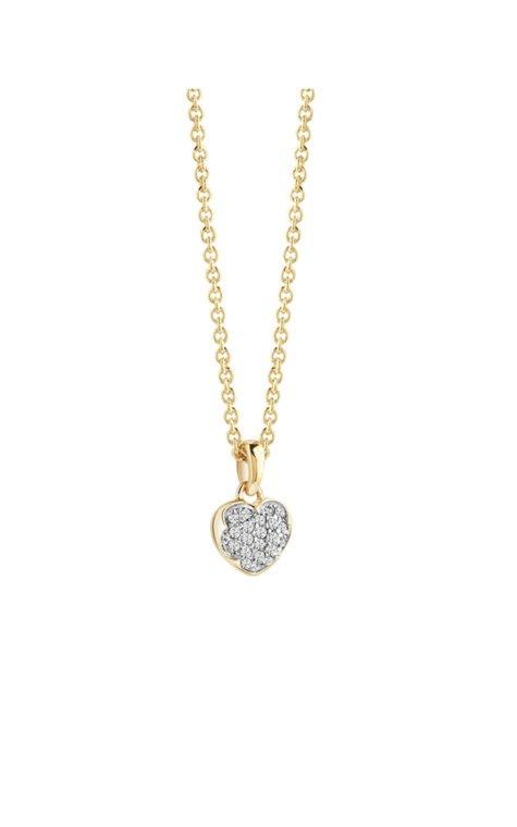 GUESS FAUX UBN71528 Χρυσό Κολιέ Με Καρδιά
