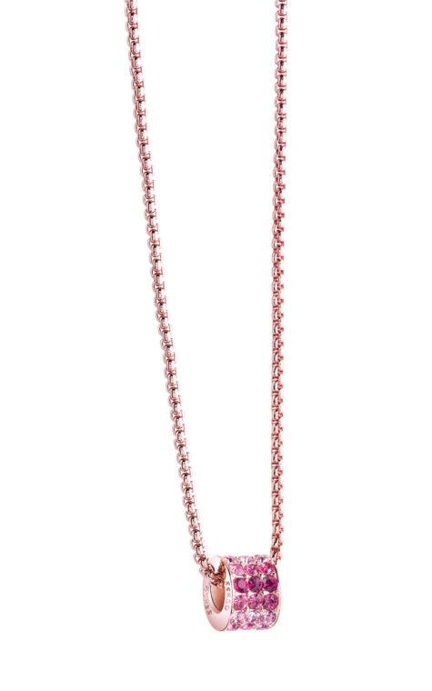 GUESS FAUX UBN71556 Ροζ Χρυσό Κολιέ Με Πέτρες